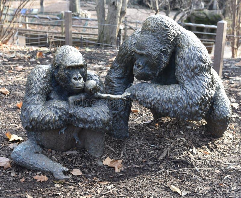 Семья гориллы низменности стоковое изображение
