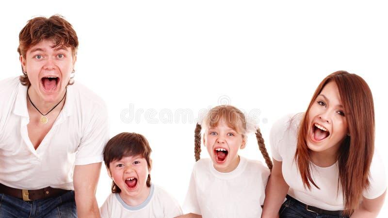семья детей ребенка внимательности счастливая стоковое фото