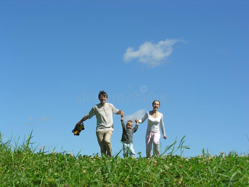 семья дня солнечная стоковая фотография