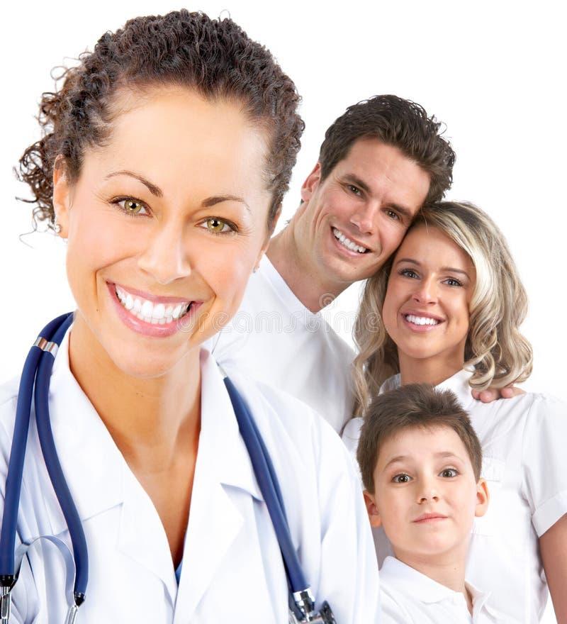 семья доктора медицинская стоковая фотография rf