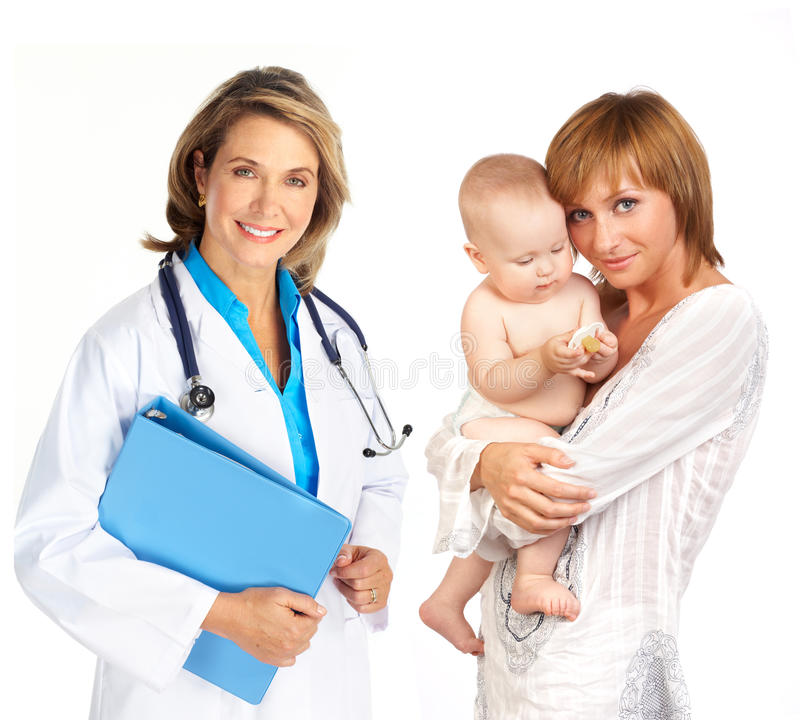 семья доктора стоковое изображение