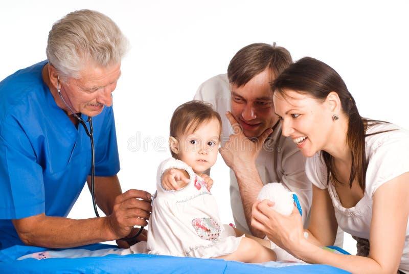 семья доктора стоковые фото