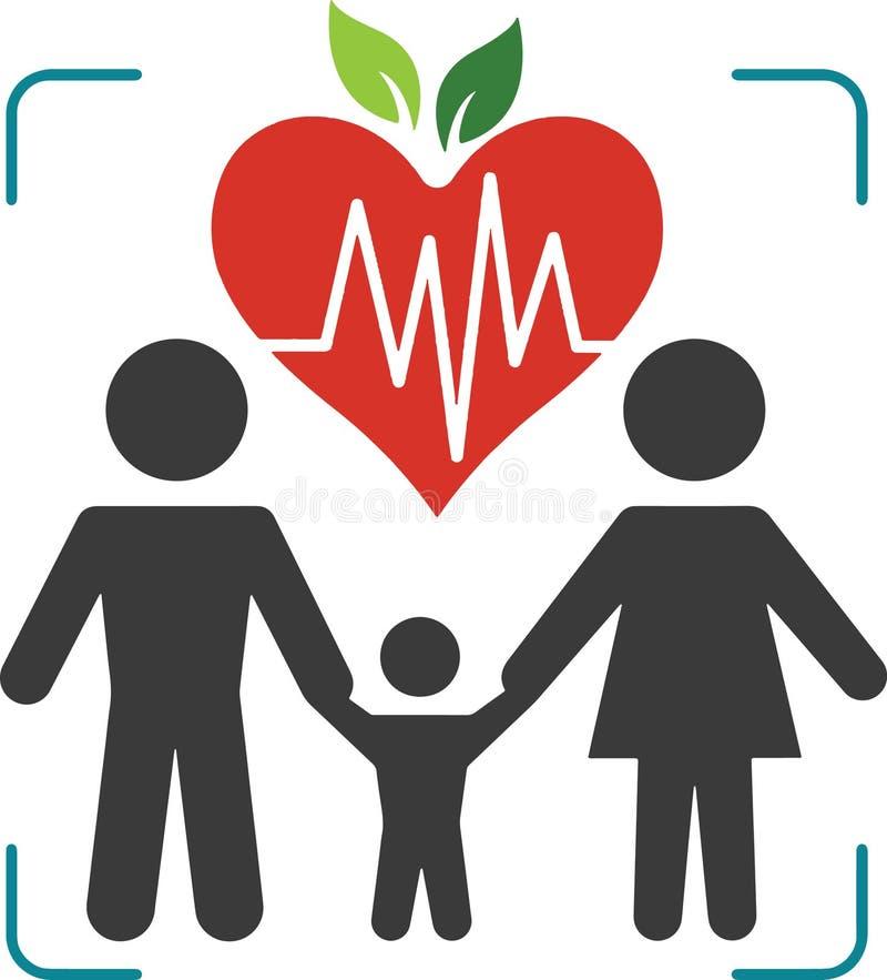 Семья здоровья логотипа стоковое изображение