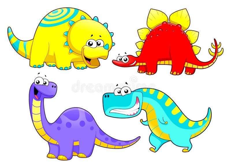 Семья динозавров. иллюстрация вектора