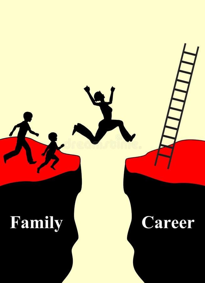 Семья и карьера бесплатная иллюстрация
