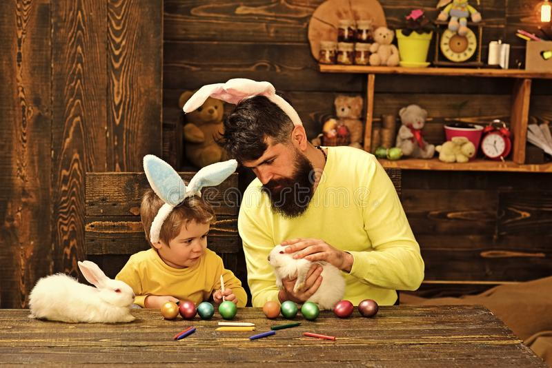 Семья кролика с ушами зайчика стоковые фотографии rf