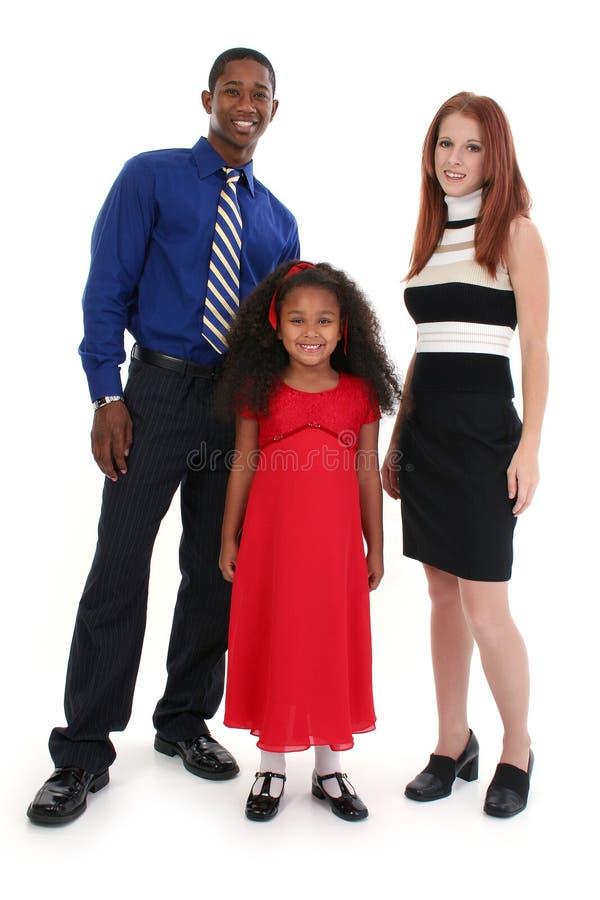 семья межрасовая стоковое изображение