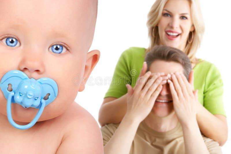 семья младенца стоковое фото