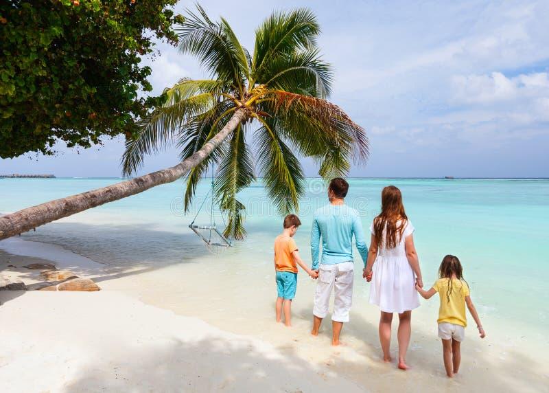 Семья на летних каникулах стоковое изображение rf