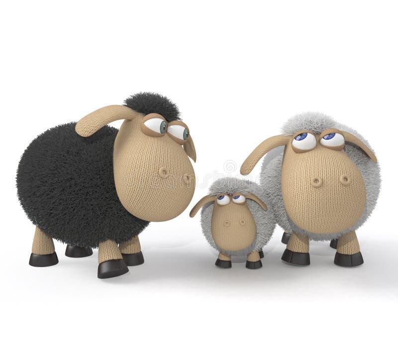 Семья овечек стоковая фотография rf