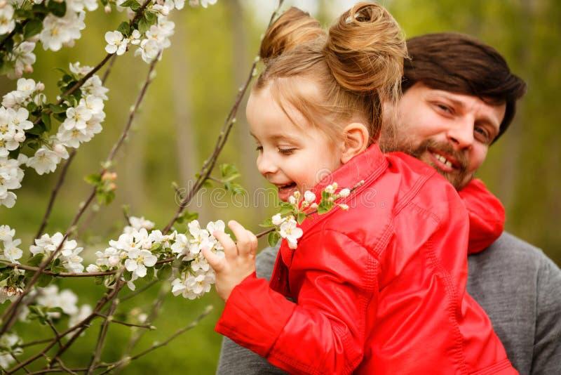 Семья Отец и дочь стоковая фотография rf