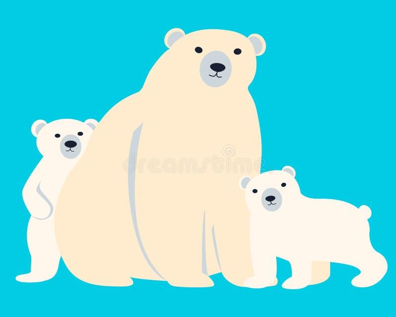 Семья полярных медведей бесплатная иллюстрация
