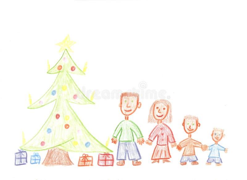 семья рождества стоковое фото rf