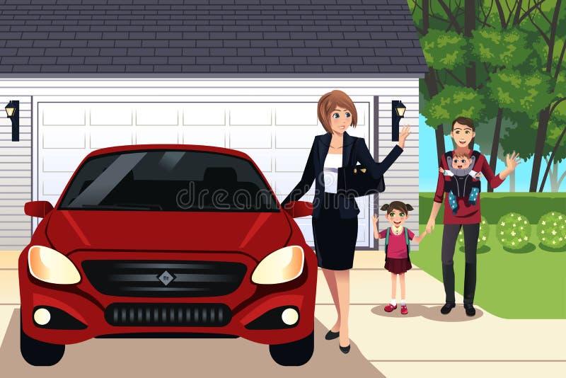 Download семья самомоднейшая иллюстрация вектора. иллюстрации насчитывающей иллюстрация - 41653745
