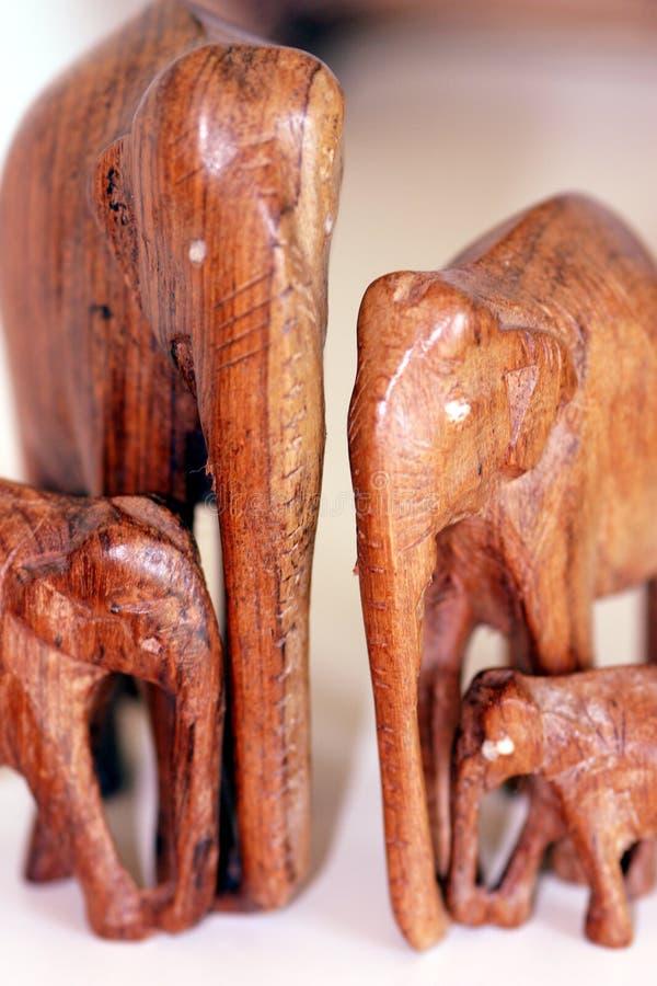 семья слона Стоковое Изображение