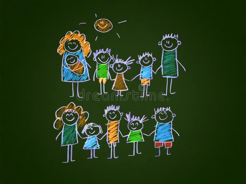 семья счастливая иллюстрация штока