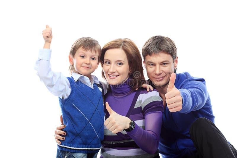 семья успешная стоковое изображение