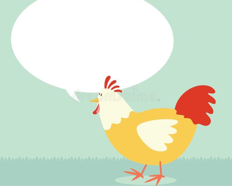 семья цыпленка иллюстрация вектора