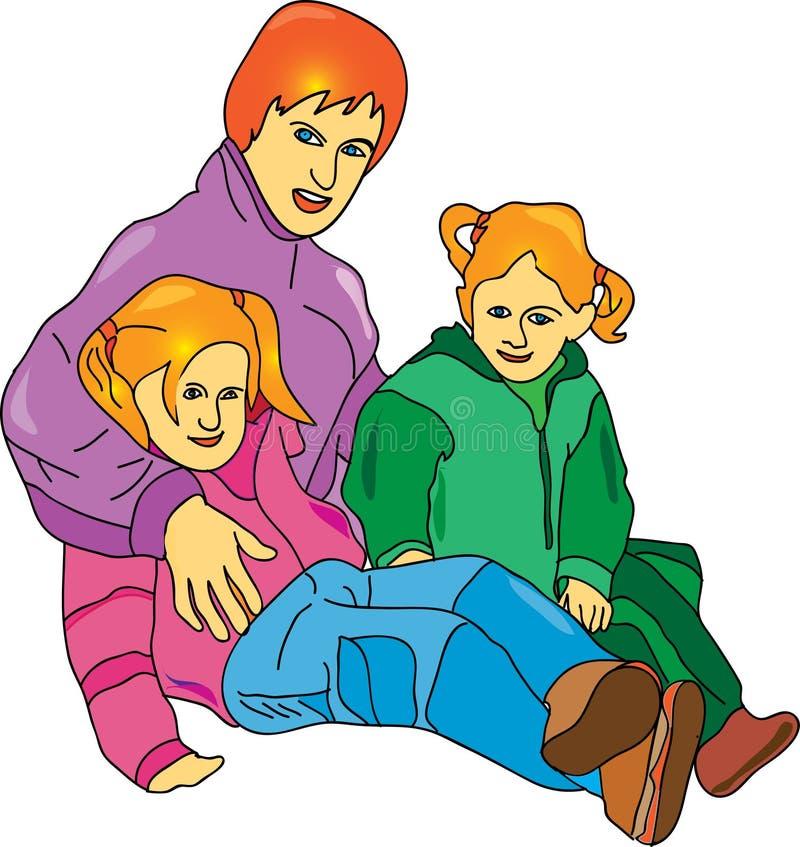 Download семья иллюстрация вектора. иллюстрации насчитывающей счастливо - 18380654