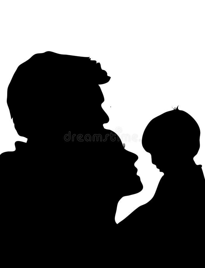 семья 2 иллюстрация вектора