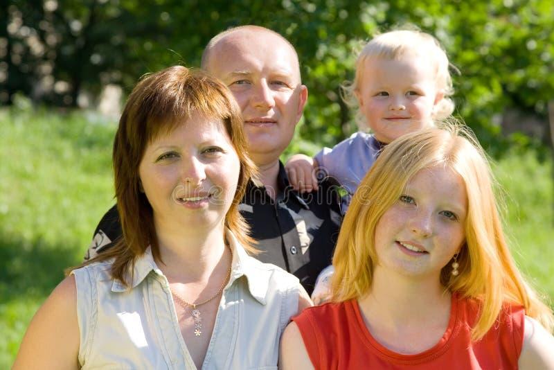 семья 4 стоковые изображения