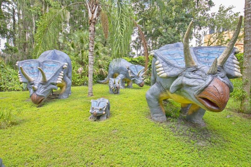 Семья Chasmosaurus стоковое фото rf