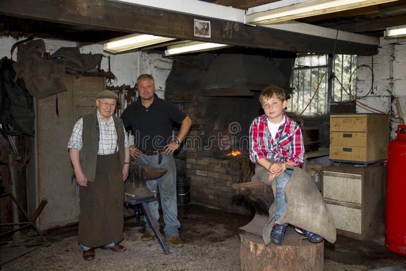 Семья Farrier стоковая фотография