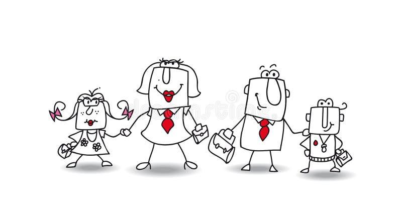 Семья Joes иллюстрация вектора