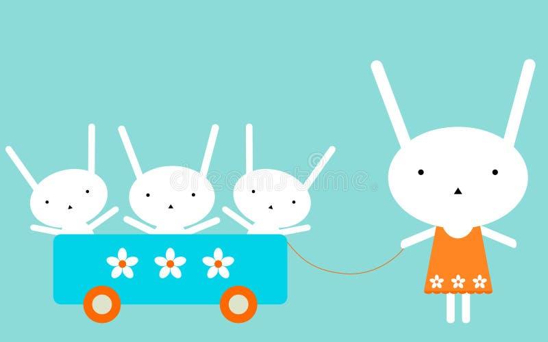 семья s bunnie иллюстрация вектора