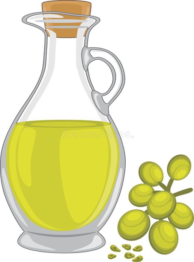 семя масла виноградины иллюстрация вектора