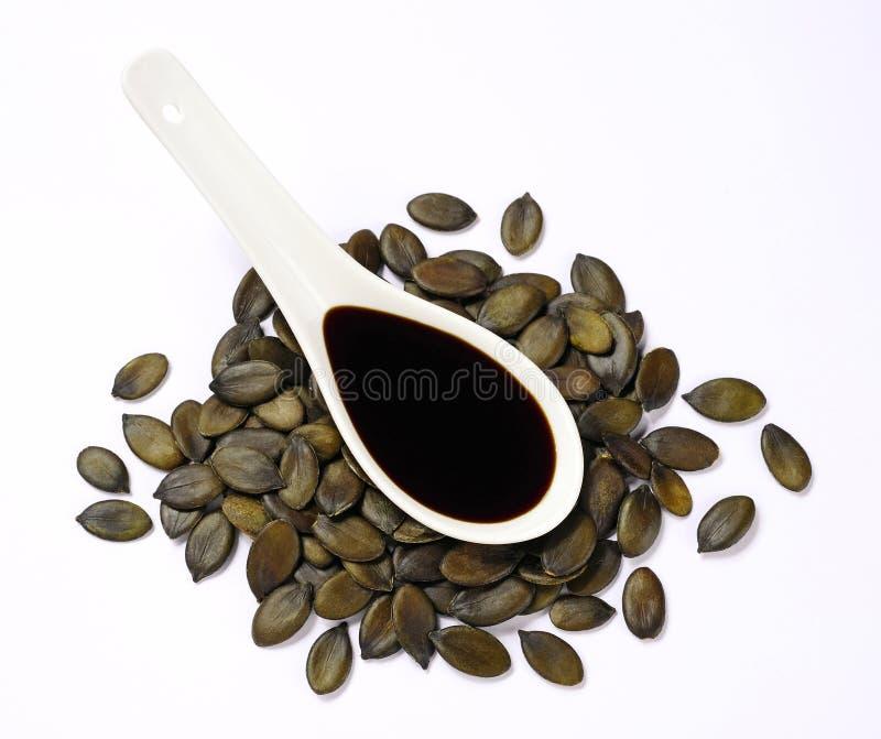 семя тыквы масла стоковые изображения