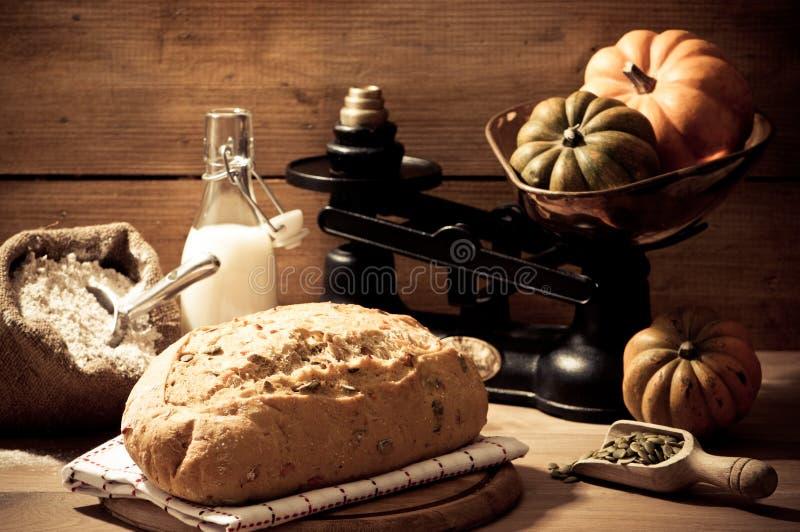 семя тыквы хлеба стоковое изображение rf