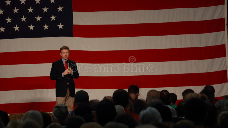 Сенатор Ранд Пол Кентукки говорит стоковое фото