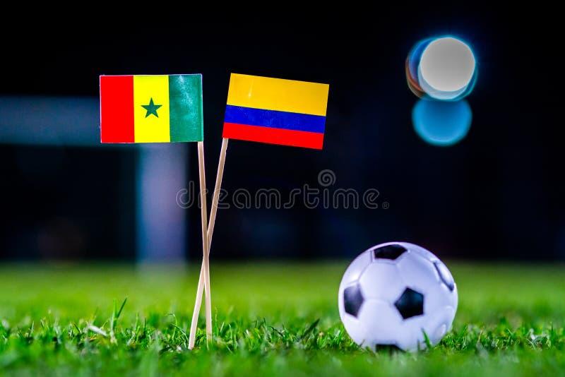 Сенегал - Колумбия, группа h, Thursday, 28 Футбол -го июнь, мир стоковое фото