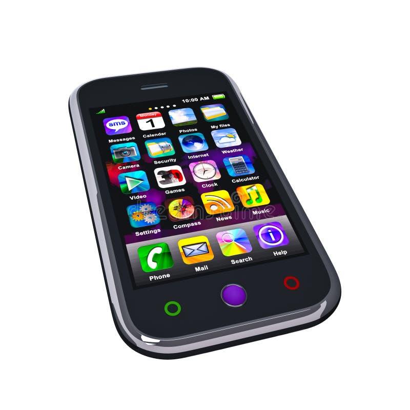 сенсорный экран телефона франтовской стоковое фото rf