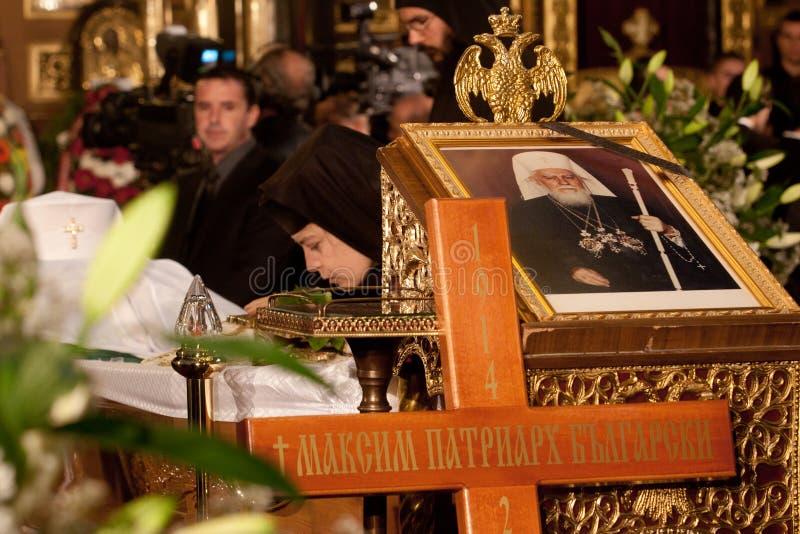 Сентенция патриарха креста funeral Болгарии стоковое фото rf