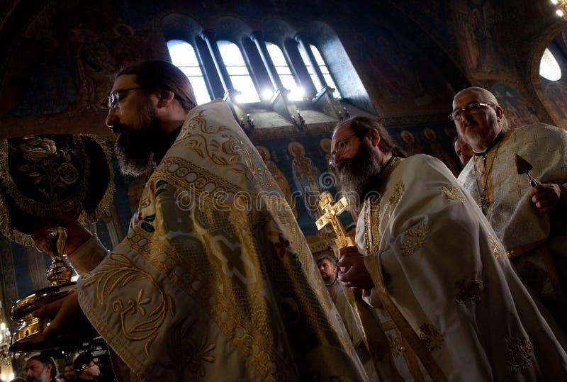 Сентенция патриарха funeral Болгарии стоковые изображения