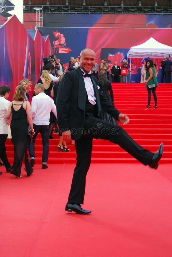 Сентенция Averin актера на фестивале фильмов Москвы стоковое изображение