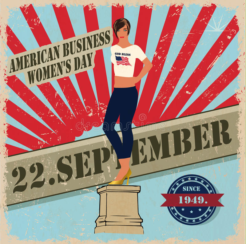 22 сентябрь, день -го женщин, eps10 стоковые фото