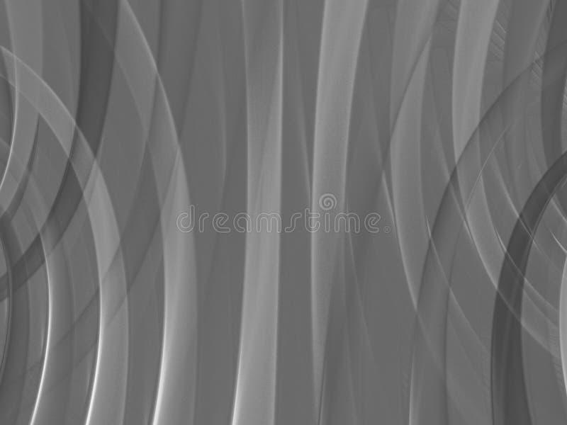 Серая абстрактная предпосылка составленная форм фрактали и цветов o бесплатная иллюстрация