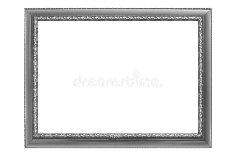 Серая винтажная картинная рамка изолированная на белой предпосылке стоковое изображение rf