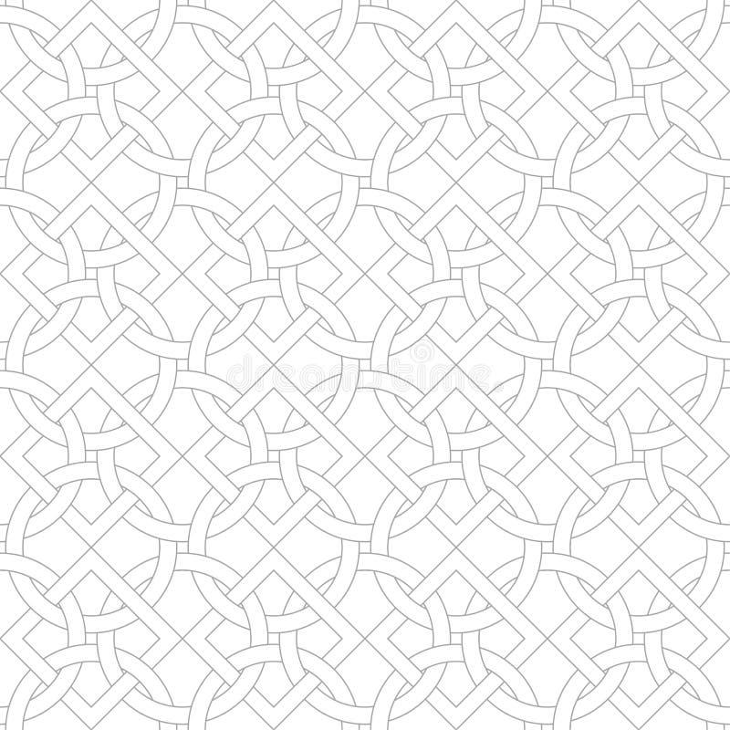 Серая геометрическая печать на белой предпосылке картина безшовная иллюстрация штока