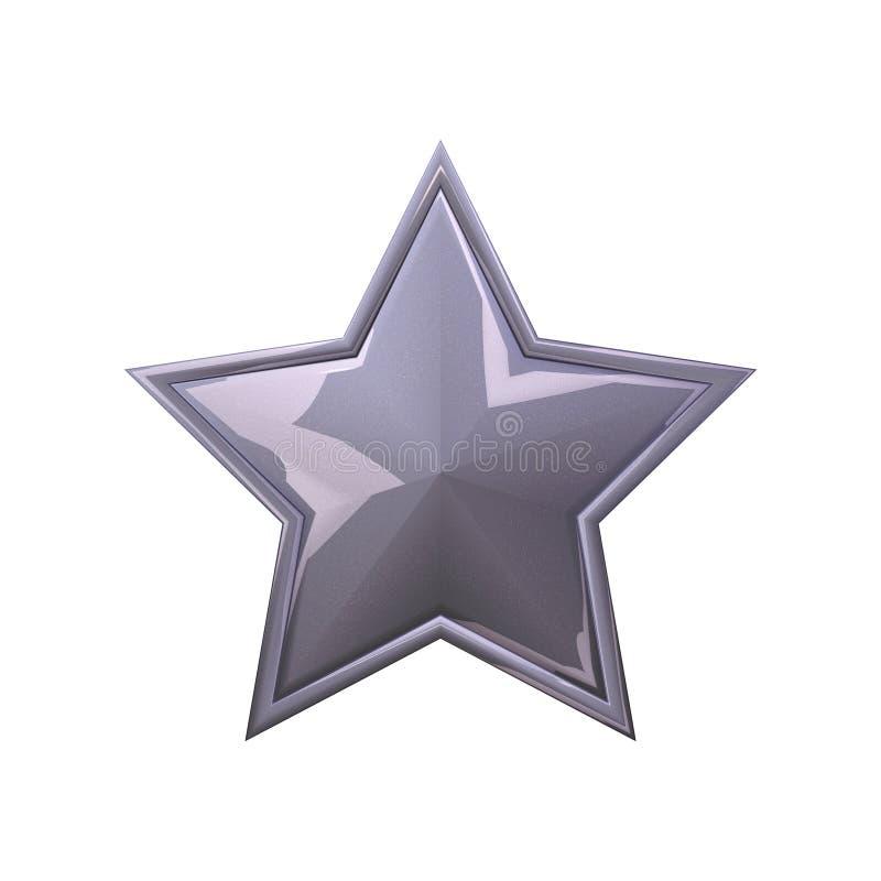 серая звезда иллюстрация вектора