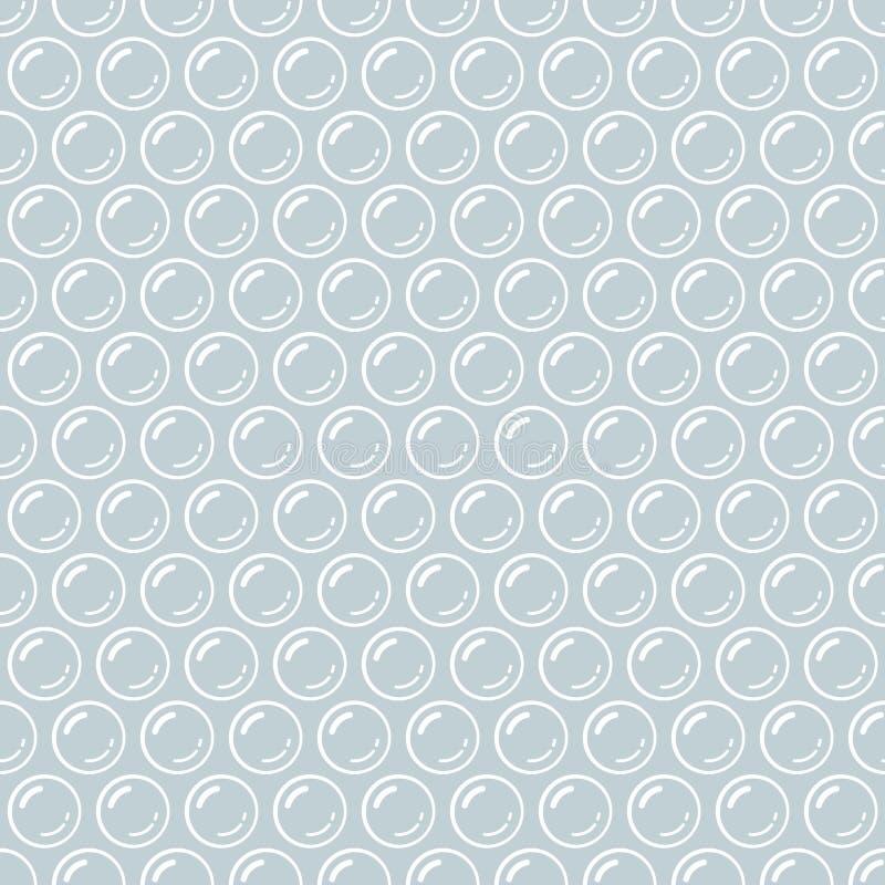 Серая и белая картина материала упаковки обруча пузыря безшовная, вектор бесплатная иллюстрация