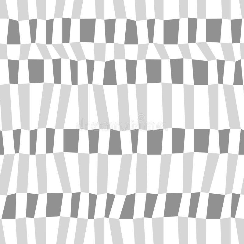Серая и белая хаотическая striped геометрическая безшовная картина, вектор иллюстрация штока