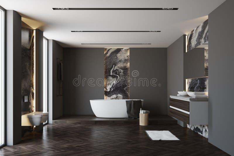 Серая и мраморная ванная комната бесплатная иллюстрация