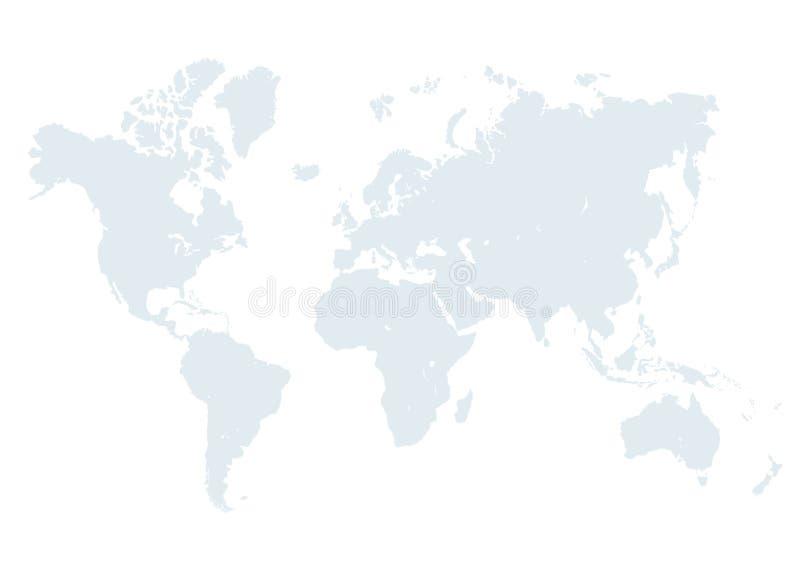 Серая иллюстрация карты мира иллюстрация штока