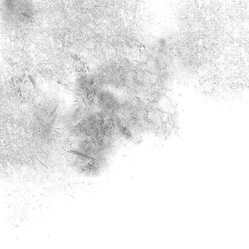 серая картина Monochrome запачканная нежностью поверхность чернил иллюстрация штока