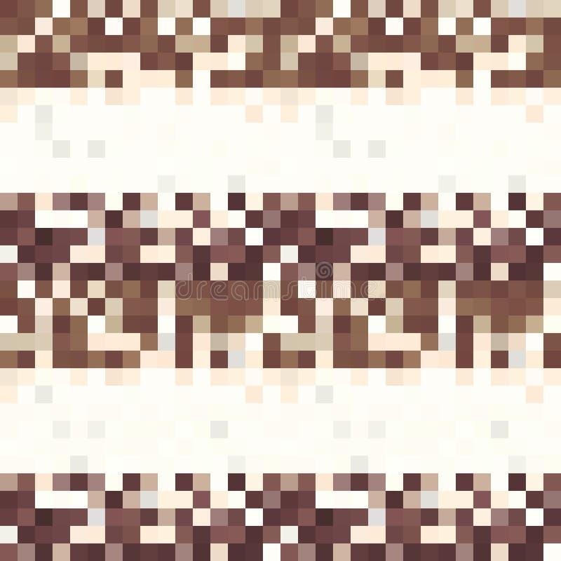 Серая, коричневая картина сделанная квадратов с экземпляром иллюстрация штока