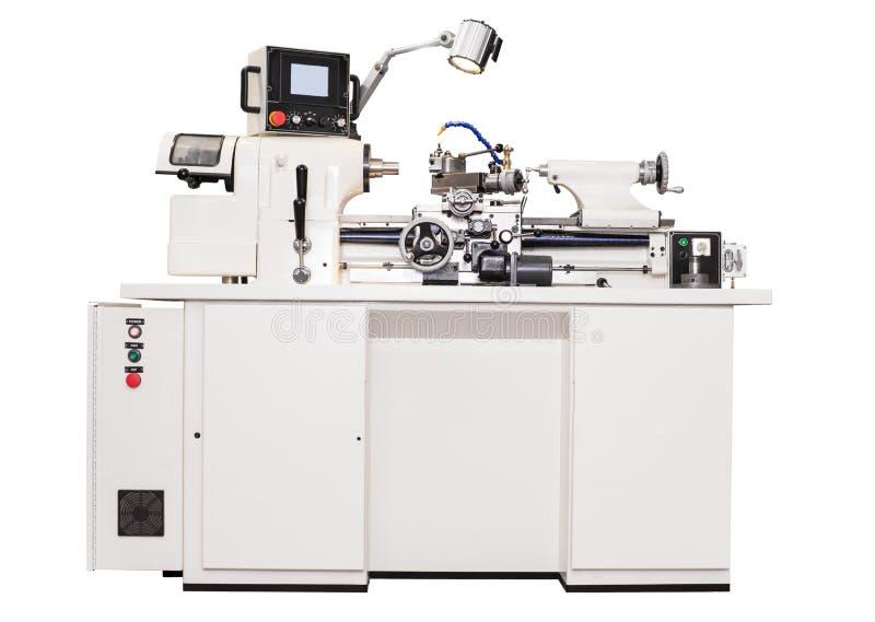 Серая машина токарного станка механической обработки стоковое изображение rf